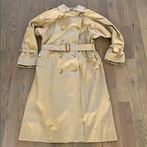 Burberry trench raincoat wool check 4 4P $1250